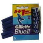 Maquinilla Desechable Gillette Blue 5un+1un <hr>0.46€ / Unidad