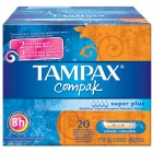 Tampax Compak Super Plus 20un <hr>0.18€ / Unidad
