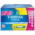 Tampax Compak Regular 36un <hr>0.16€ / Unidad