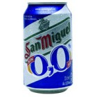 Cerveza San Miguel 0.0 Sin Alcohol Lata 33cl <hr>1.55€ / Litro.