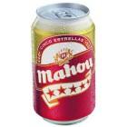 Cerveza Mahou 5 Estrellas Lata 33 Cl 5,5° <hr>1.85€ / Litro.