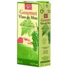 Vino Gourmet Blanco Brick 1 Litro 11° <hr>0.67€ / Litro.