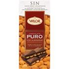Chocolate Valor Puro Almendra Sin Azúcar 150 Gramos