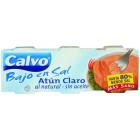 Atún Calvo Claro Natural Bajo En Sal Pack De 3 Unidades