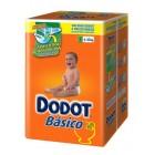 Pañal Dodot Básico Talla 3 4-10kg 54un <hr>0.17€ / Unidad