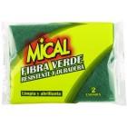 Estropajo Mical Fibra Verde 2 Udes <hr>0.40€ / Unidad