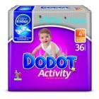 Pañales Dodot Activity T4 9-15k 36u <hr>0.34€ / Unidad