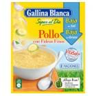 Sopa De Pollo Con Fideos Baja En Sal Gallina Blanca 35 Gr