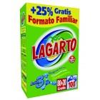 Detergente En Polvo Lagarto Maleta Familiar 100 Lavados <hr>1.62€ / Kilo.