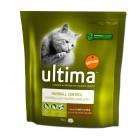 Comida Gato Ultima Hairball 800 Gr <hr>5.29€ / Kilo.