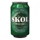 Cerveza Skol Lata 33 Cl 4,6º <hr>1.06€ / Litro.