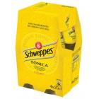 Tónica Schweppes Botellín P-4 25 Cl <hr>2.87€ / Litro.