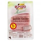 Jamón Cocido All Natural El Pozo 90 Gr. <hr>11.11€ / Kilo.