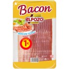Bacon Ahumado Natural El Pozo 120 Gr <hr>8.33€ / Kilo.