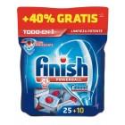 Lavavajillas Finish Todo En Uno 25 + 10 Pastillas <hr>0.28€ / Unidad