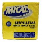 Servilleta Mical Amarilla 33x33 50 Und <hr>0.02€ / Unidad
