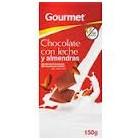 Chocolate Con Leche Y Almendras Gourmet 125 Gr <hr>7.52€ / Kilo.