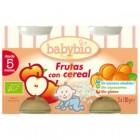 Potito Frutas Con Cereales Babybio 2x130 Gr <hr>10.00€ / Kilo.