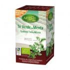 Caja Infusión Te Verde Con Menta Eco 20 Filtros <hr>0.11€ / Unidad