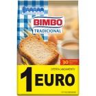 Pan Tostado Tradicional Bimbo 30 Rebanadas <hr>3.70€ / Kilo.
