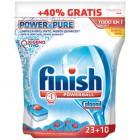 Lavavajillas Finish Todo En Uno Pure 23+10 Und <hr>0.27€ / Unidad