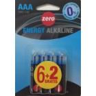 Pila Alcalina Zero AAA Bli 6+2 Und <hr>0.14€ / Unidad